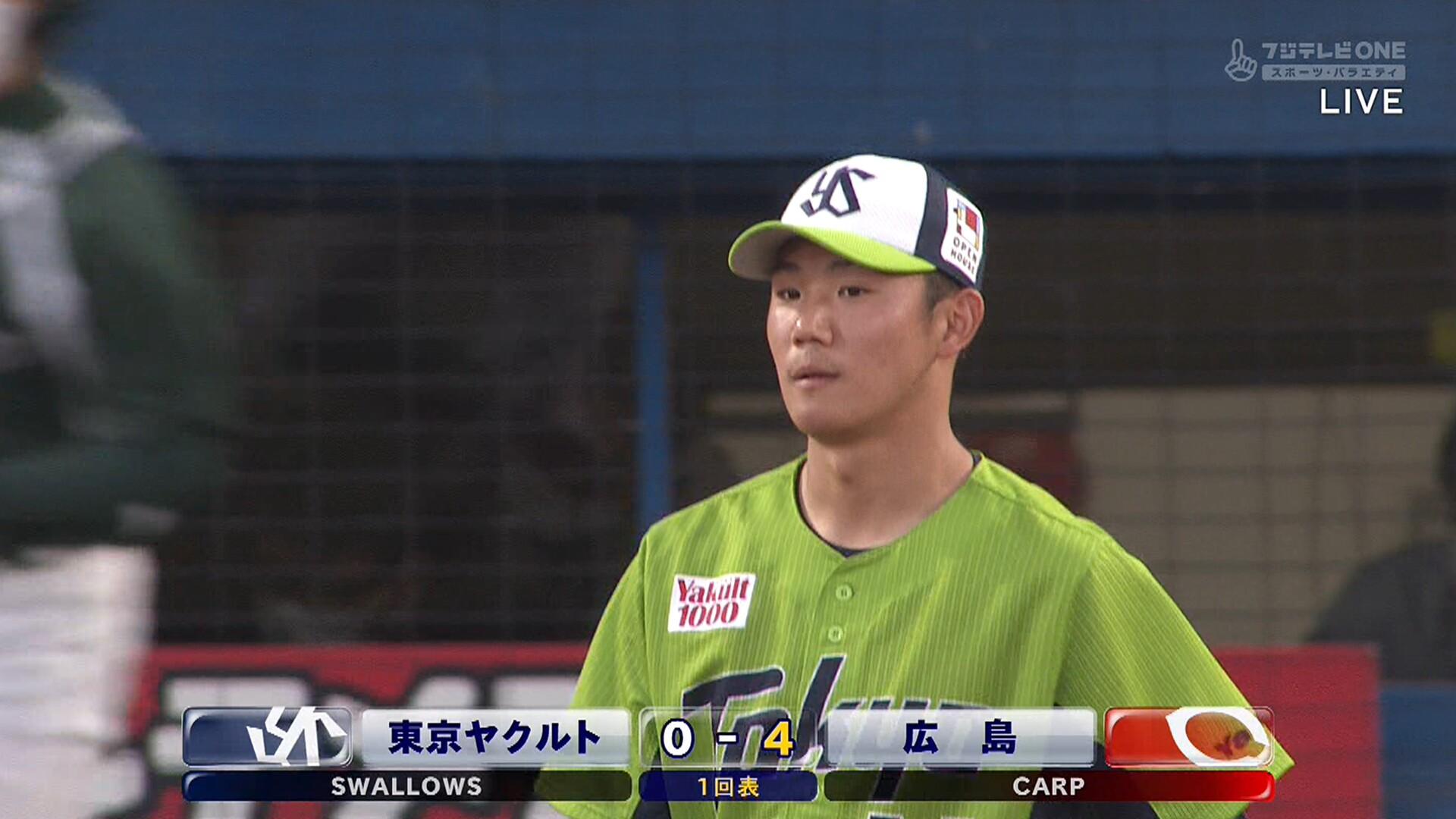ヤクルト・奥川、初回2アウトから5連打で4失点