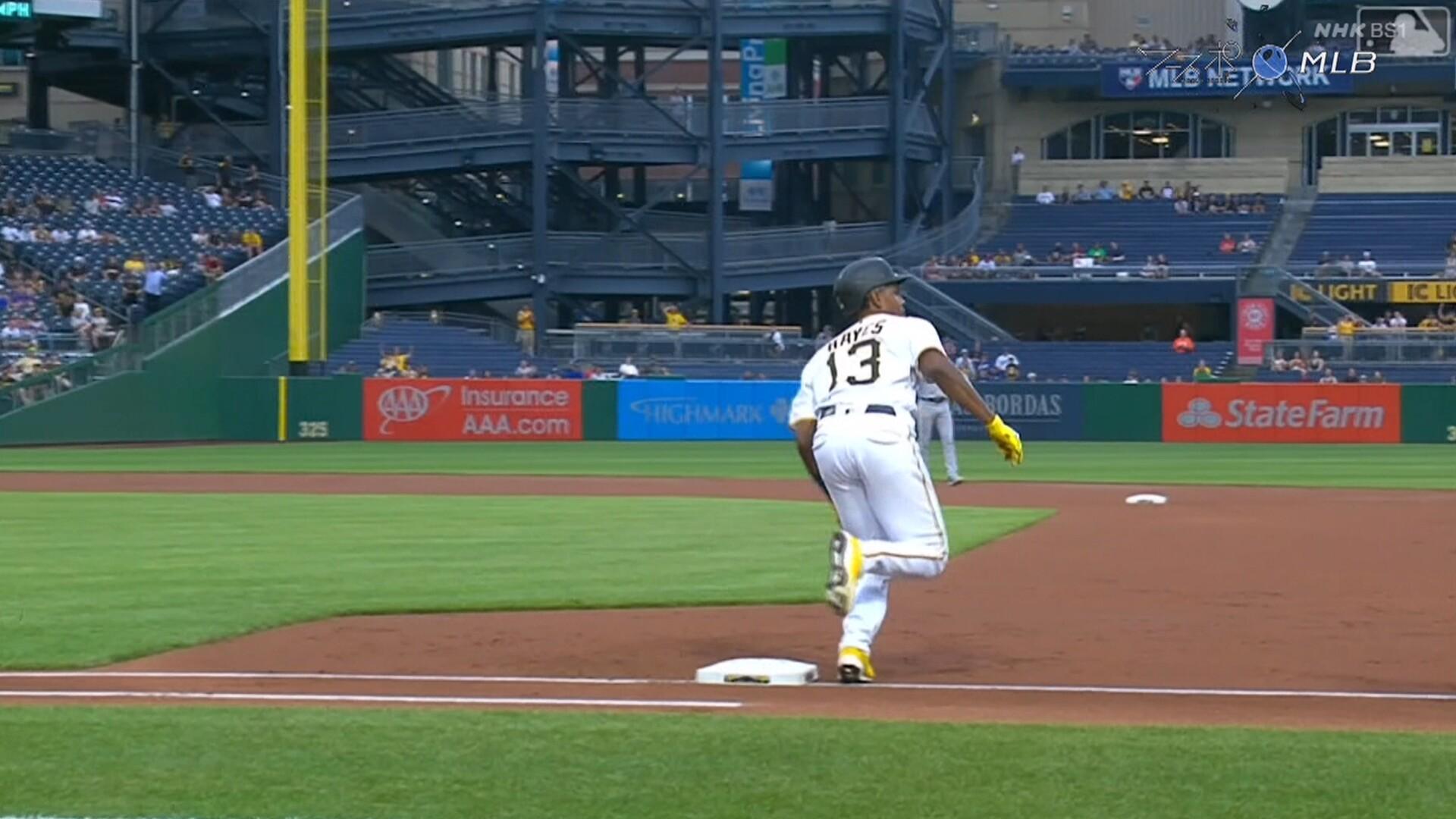 パイレーツ・ヘイズ、一塁ベースを踏み忘れてホームラン取り消しwwww