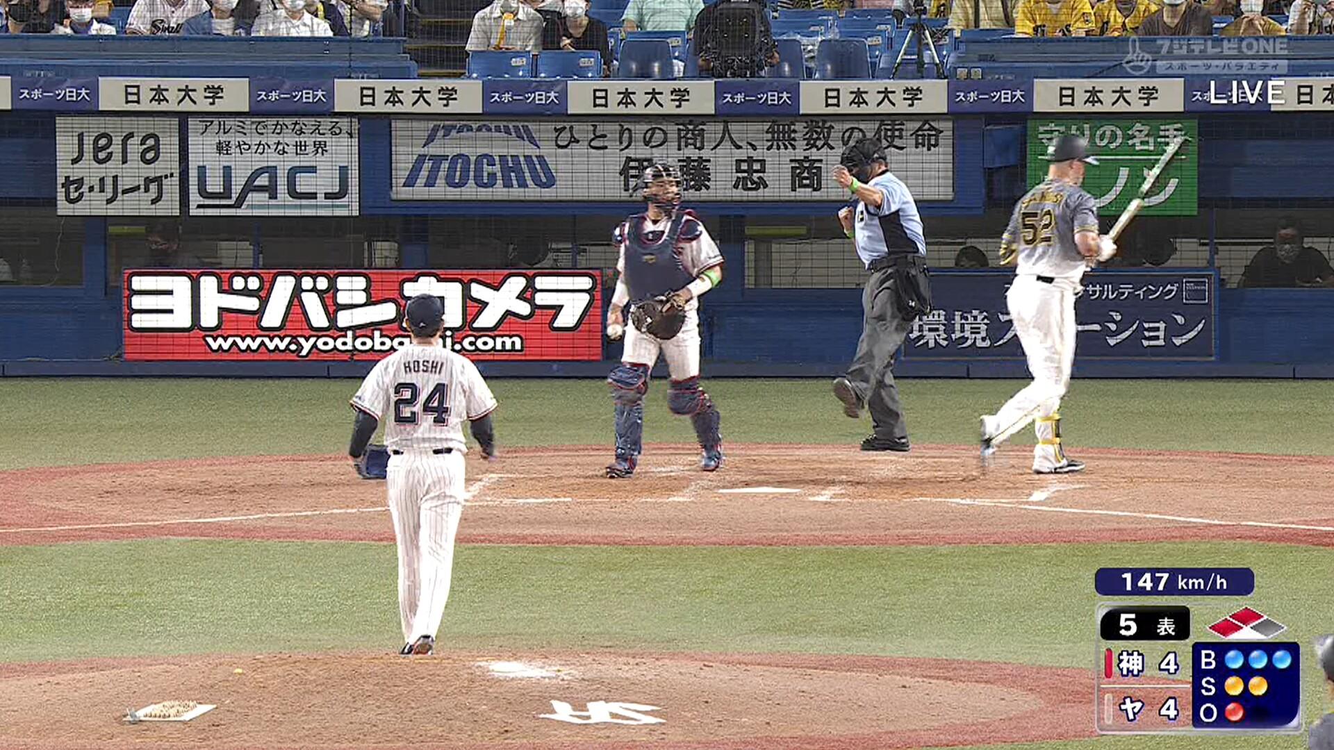 阪神タイガース 本日の得点圏打率10-1(.100)