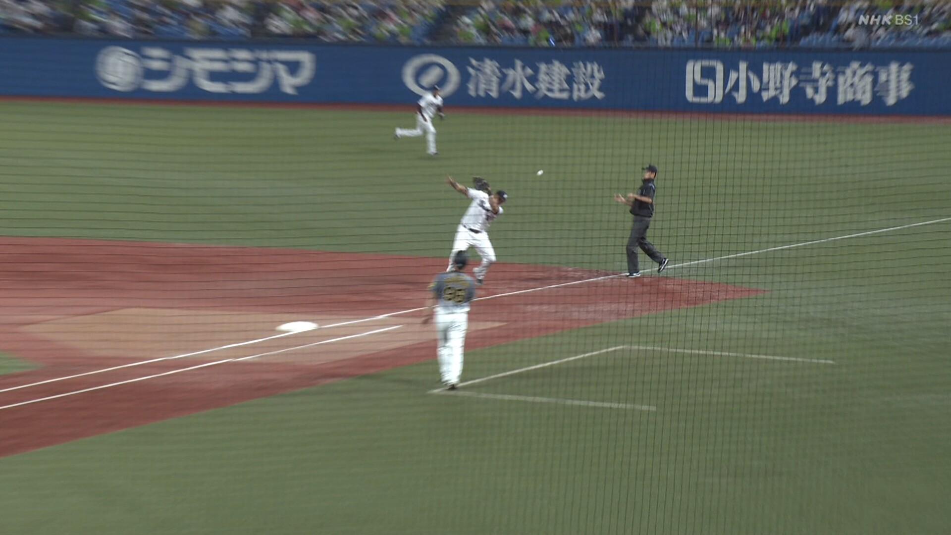 阪神、ラッキーなタイムリーで勝ち越し