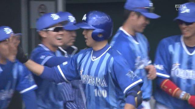 DeNA・網谷(育成2年目)、阪神との練習試合でバックスクリーン弾!
