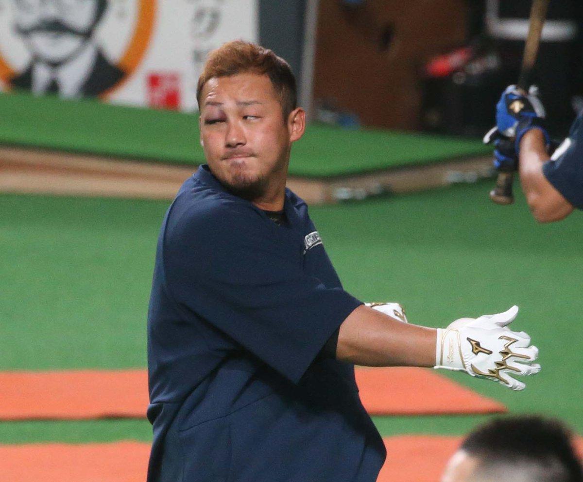 【悲報】 中田翔さん、バット破壊で右目を怪我