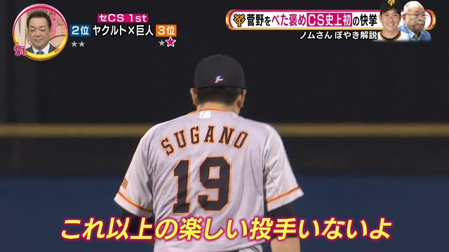 ノムさん、菅野をべた褒め「これ以上の楽しい投手いないよ」
