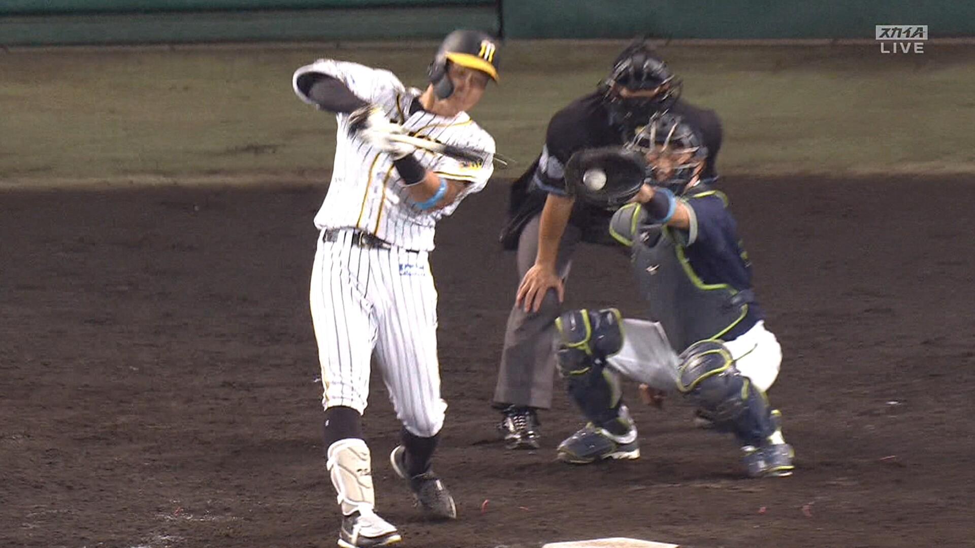 佐藤輝明、35打席連続ノーヒット 球団日本人最多の151三振