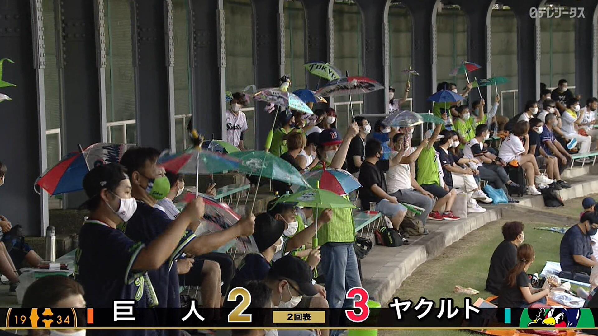 巨人vsヤクルトの首位攻防戦、2回表までにホームラン4本! 長良川球場狭すぎるwwwww