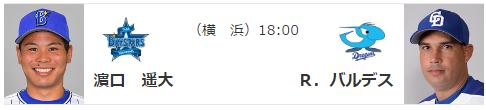 DeNA - 中日、2ゲーム差で明日から3連戦!