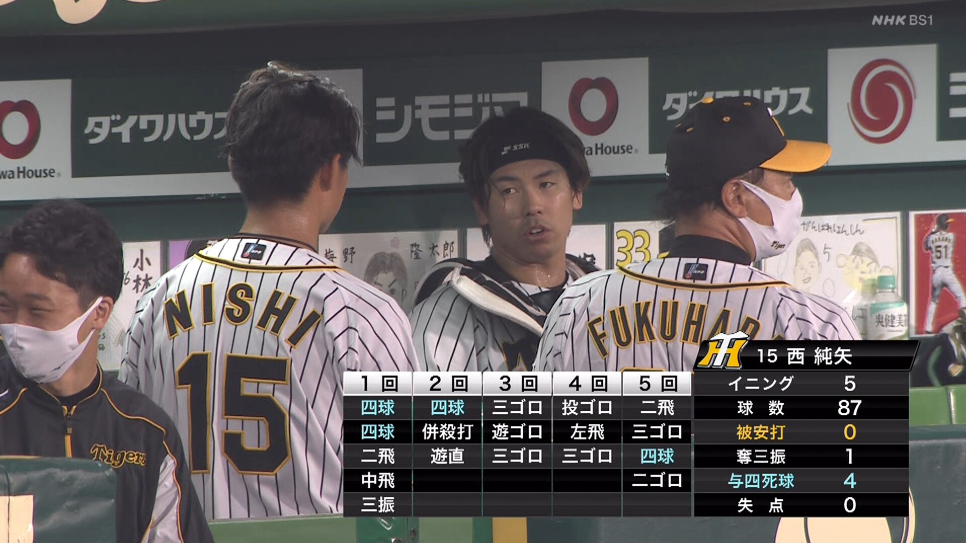 阪神・西純矢、5回までノーヒットノーランのまま降板