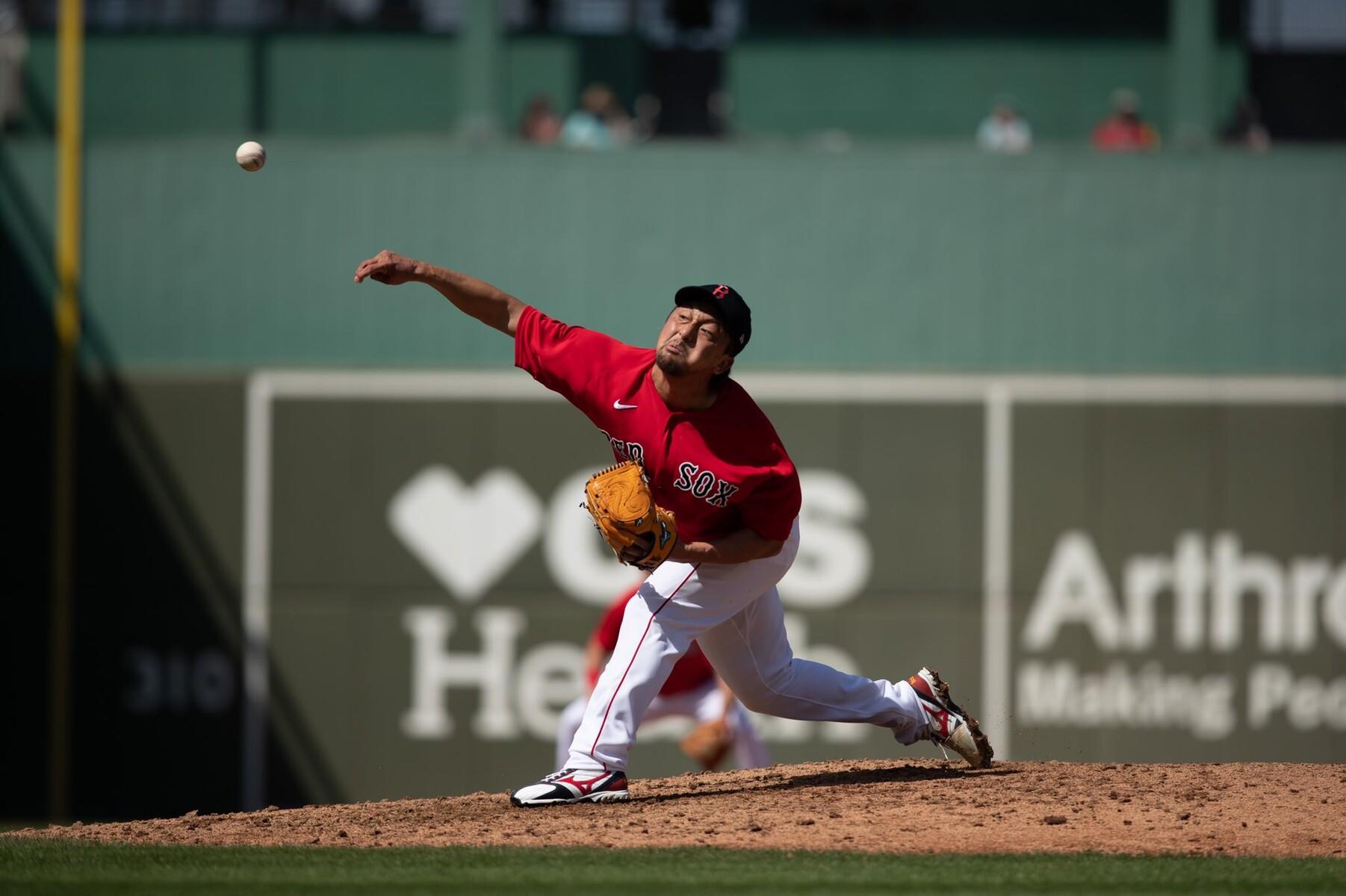 レッドソックス・澤村、初登板は2/3回1失点 2死後に二塁打→3連続四球で降板