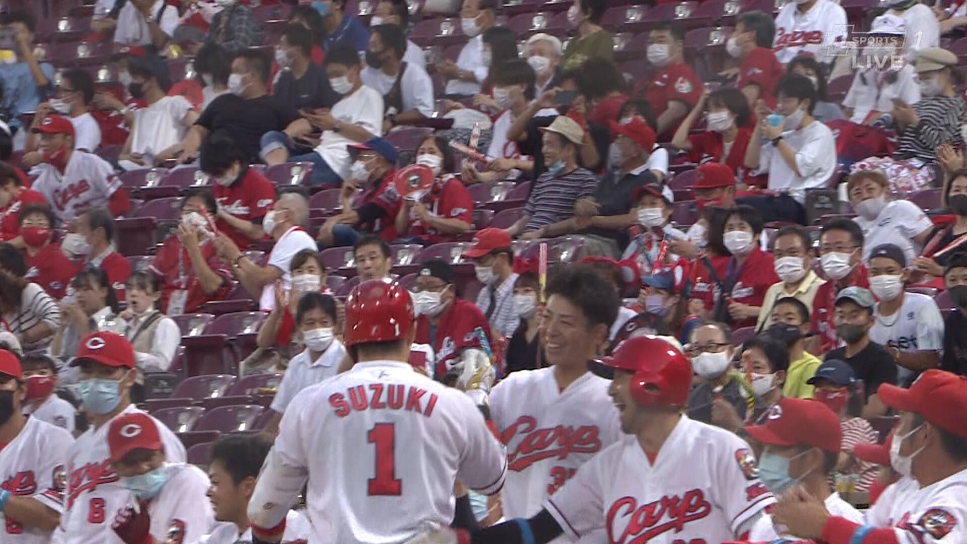 スーパー鈴木誠也、球団記録に並ぶ6試合連続ホームラン