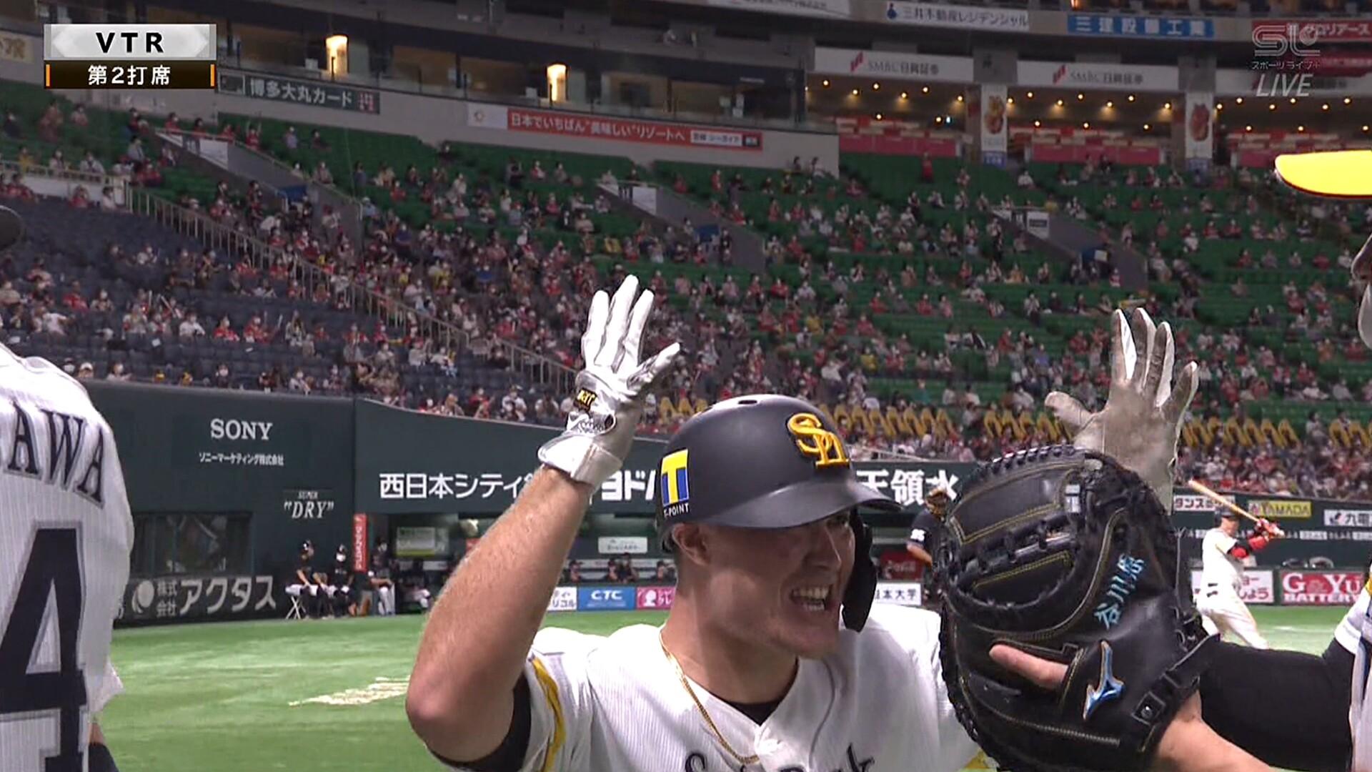 ソフトバンク・リチャード、プロ初ホームランが満塁弾!