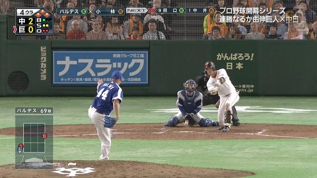 巨人・小林誠司 打率.000(6-0) 4三振