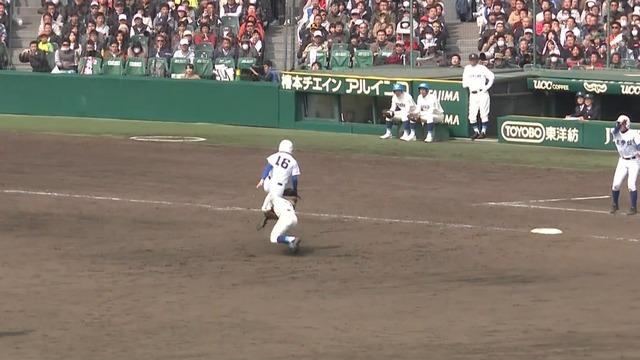 【センバツ】至学館 vs 呉、延長12回守備妨害で試合終了