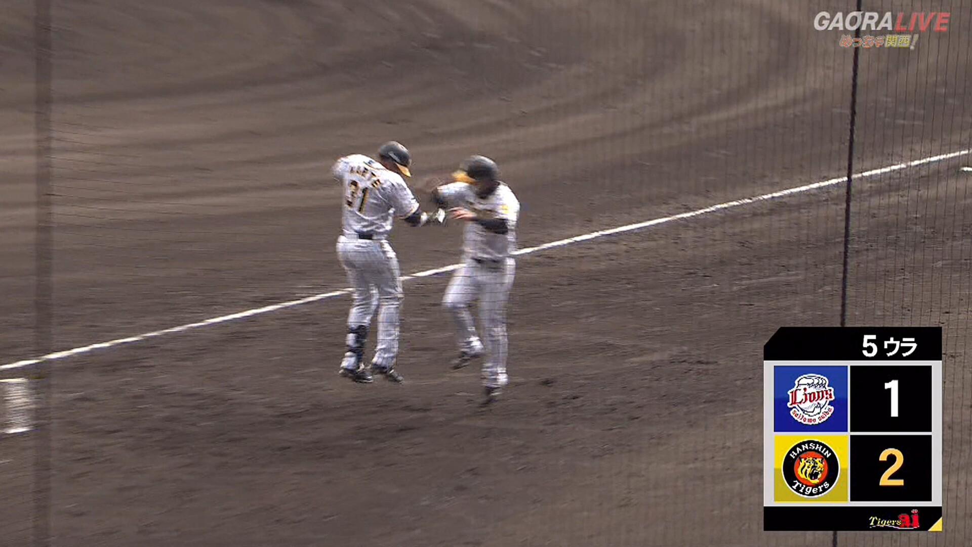 阪神、ソロホームラン2発で逆転! オープン戦ホームラン出すぎやろwwwww