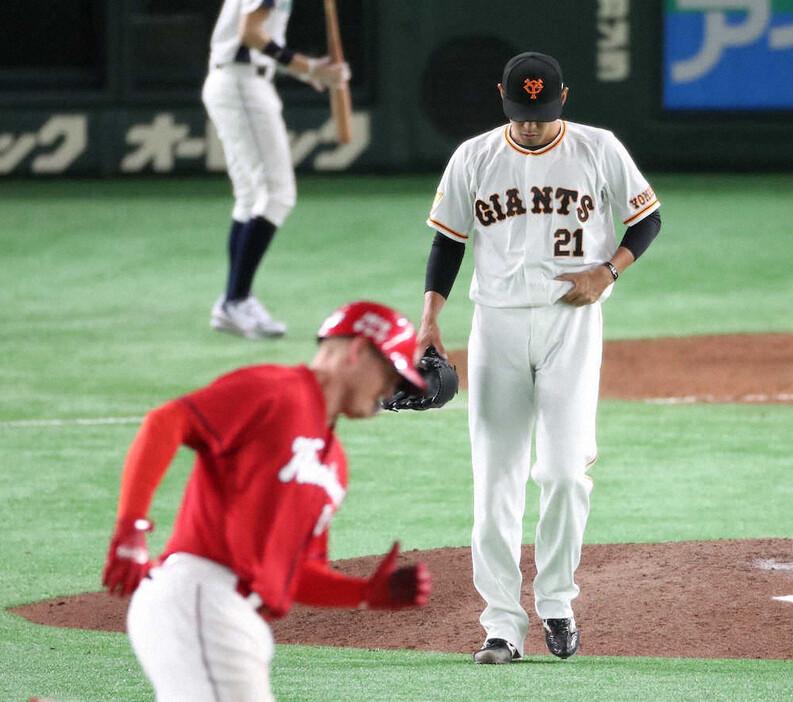 巨人・井納翔一 防御率14.40 WHIP2.40