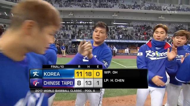 【WBC】 韓国、最終戦勝利! オスンファンが危機を救い、キムテギュンが美味しいところをもっていく