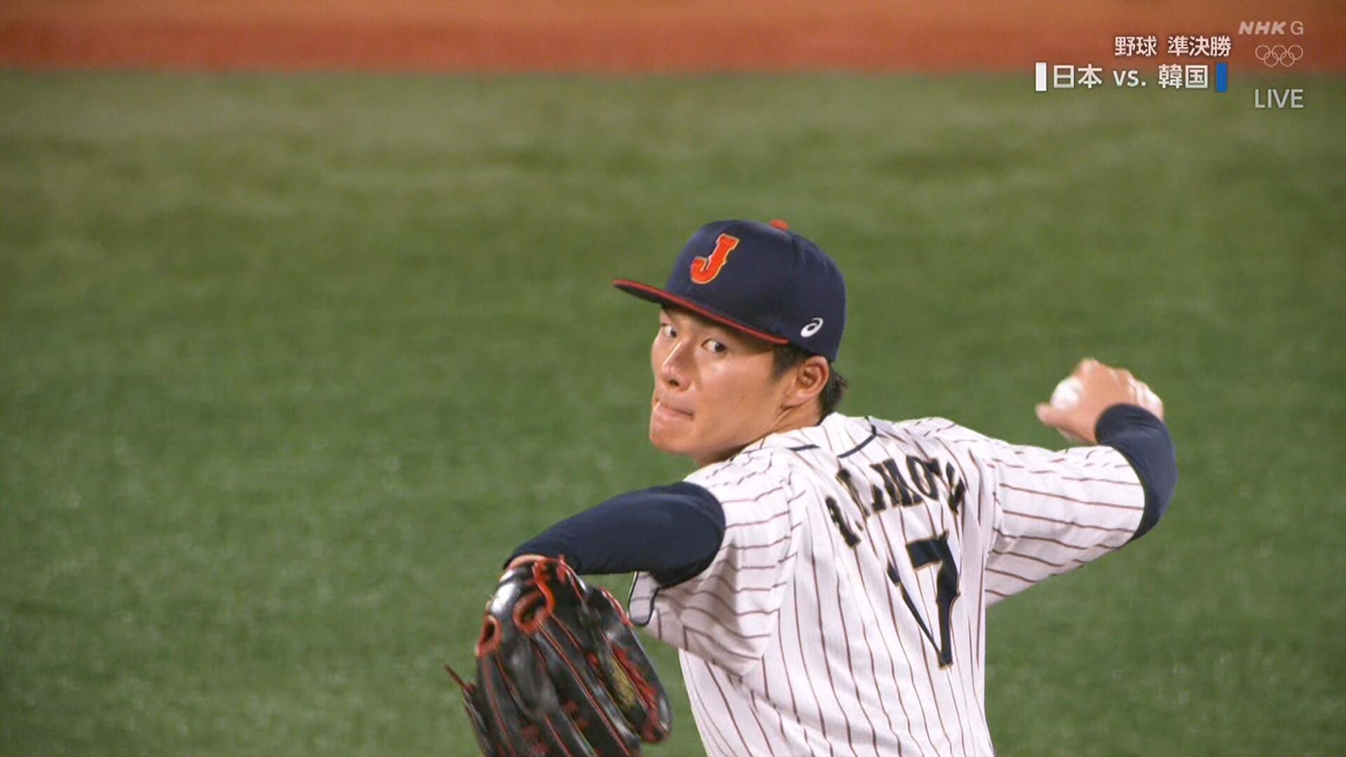 【侍ジャパン】 山本由伸キレッキレ! 5回まで2安打無失点8奪三振
