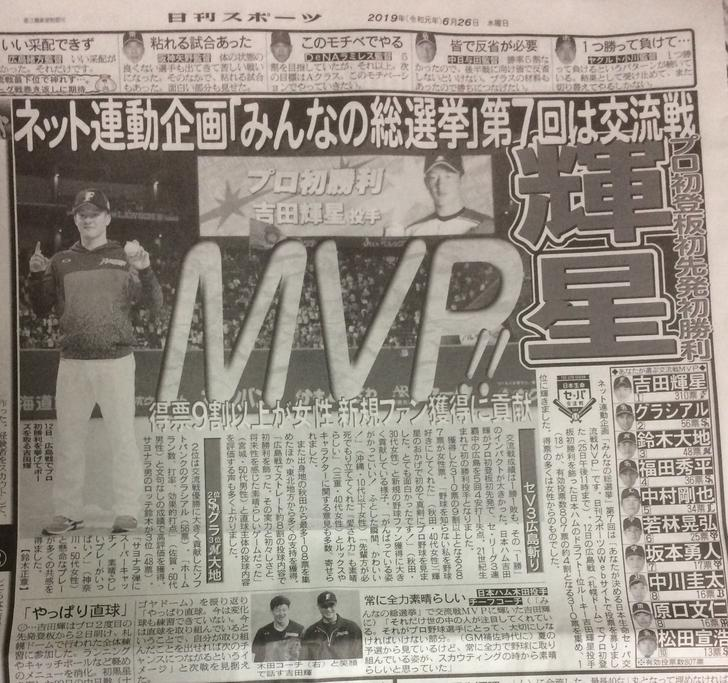 日刊スポーツの交流戦MVP総選挙、とんでもない結果になってしまう