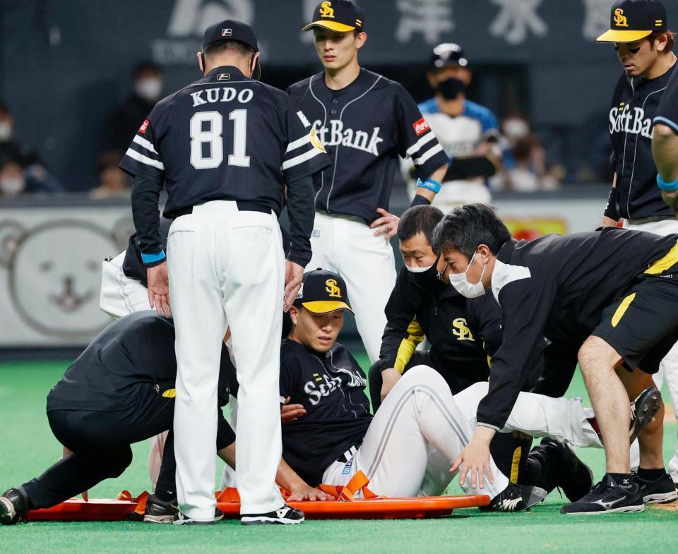 ソフトバンク・千賀は「左足首捻挫」の診断