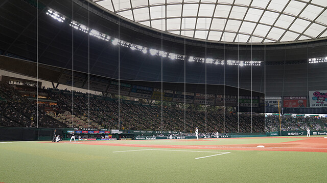 メットライフドームさん、内野席に高さ20mの防球ネットを設置してしまう