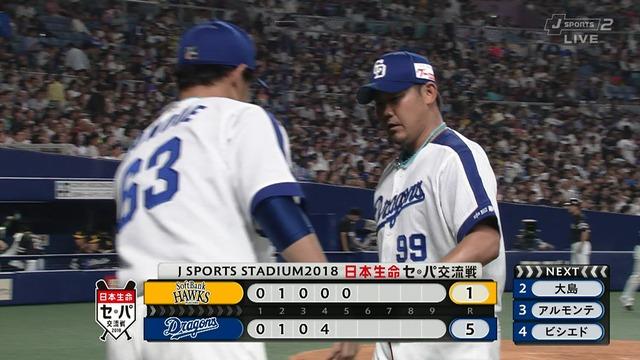 【恩返し】 松坂、古巣ソフトバンク戦で勝利投手の権利を得て降板 5回1失点