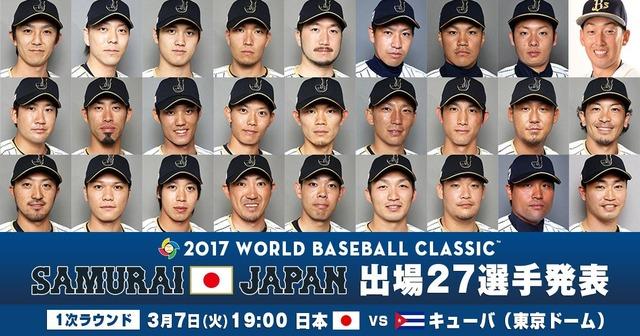 【朗報】 侍ジャパン、全球団いる 野手1名が辞退で後日発表