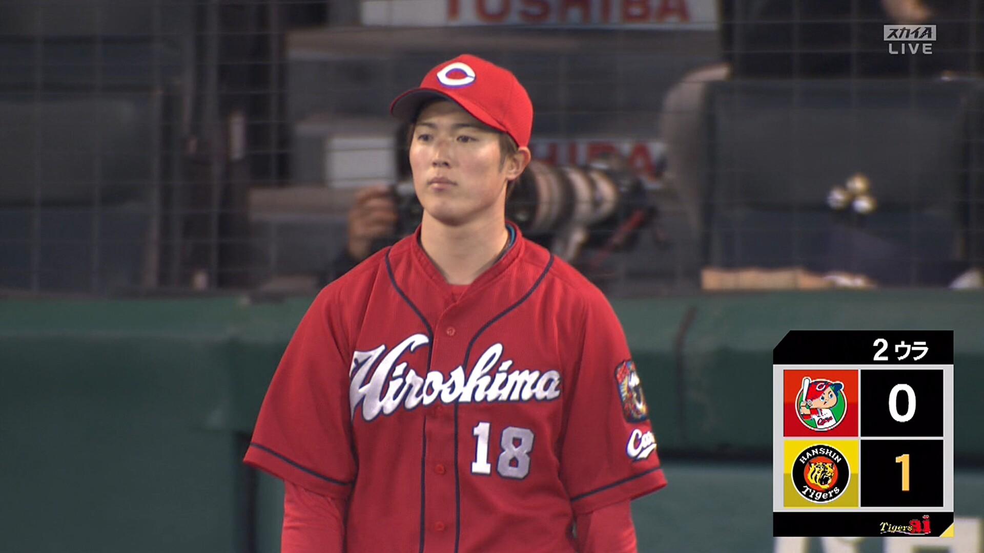 広島・森下、今季初失点 阪神・ルーキー中野が先制タイムリー