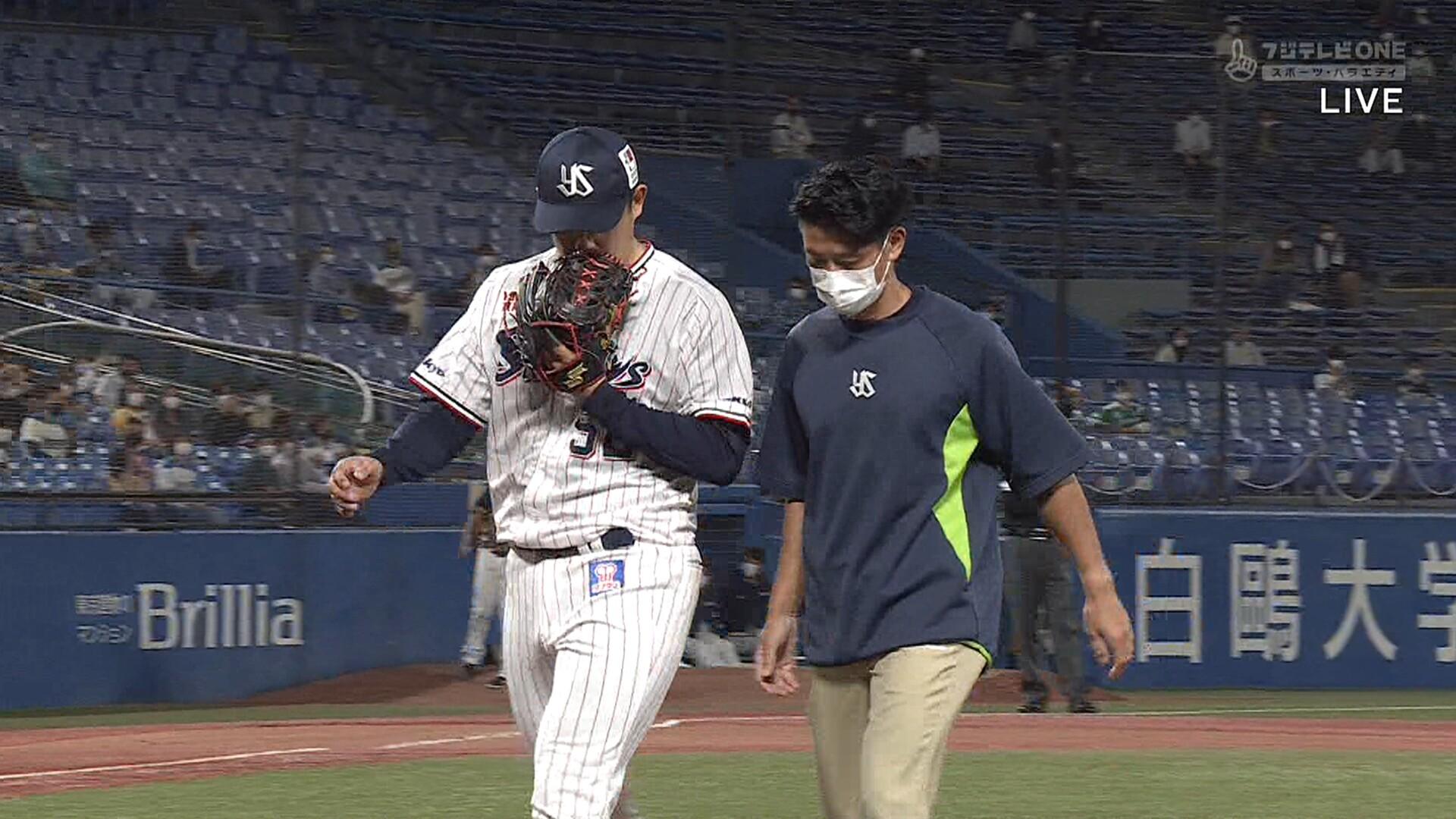 ヤクルト・近藤弘樹、わずか1球で緊急降板… 肩に違和感か