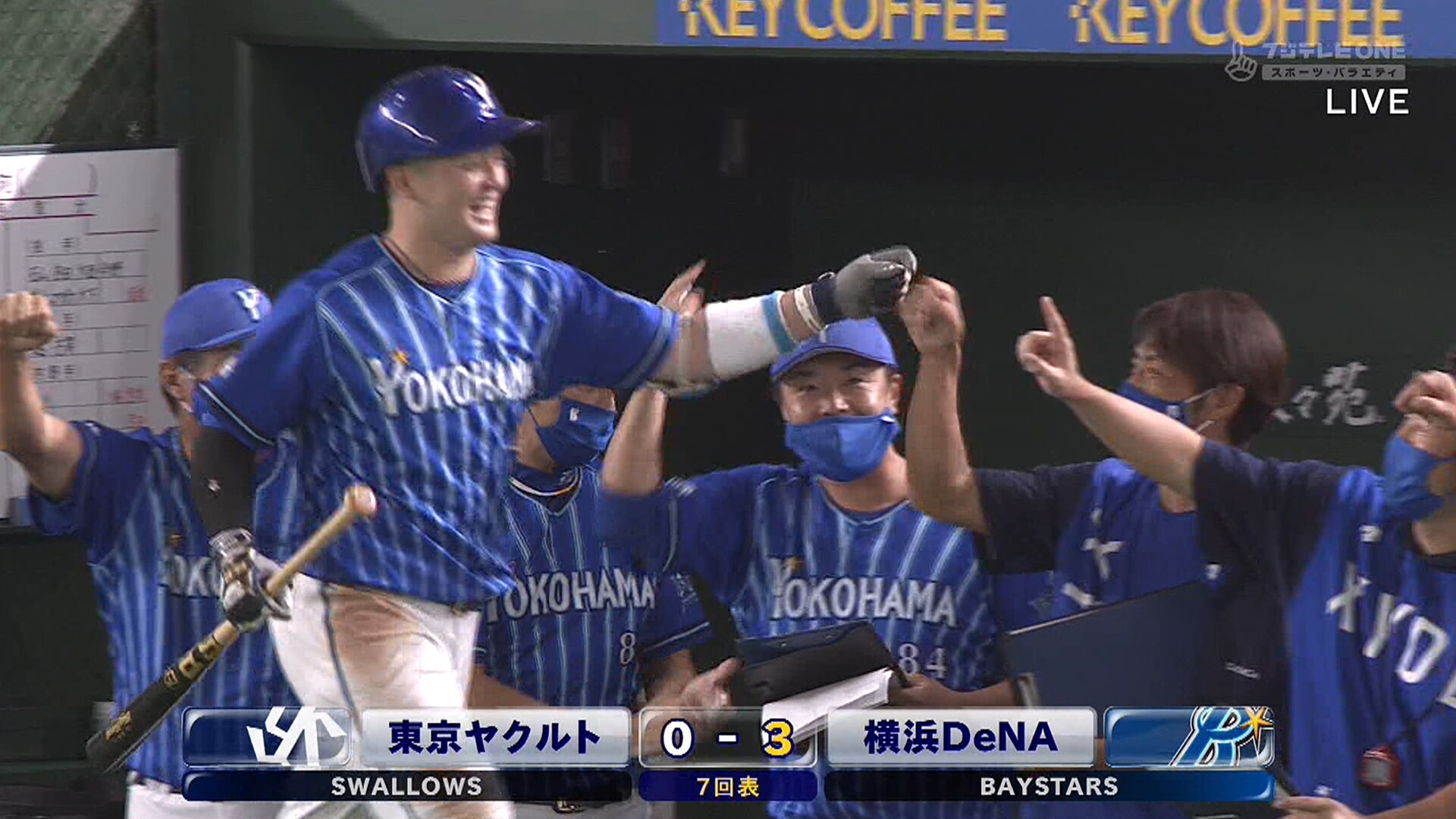 DeNA、宮崎→ソト→牧が3者連続ホームラン!!!