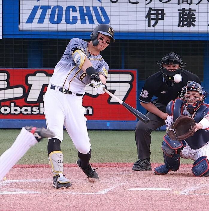 佐藤輝明 .261(115-30) 9本塁打(実質1位) 25打点(1位タイ) OPS.846