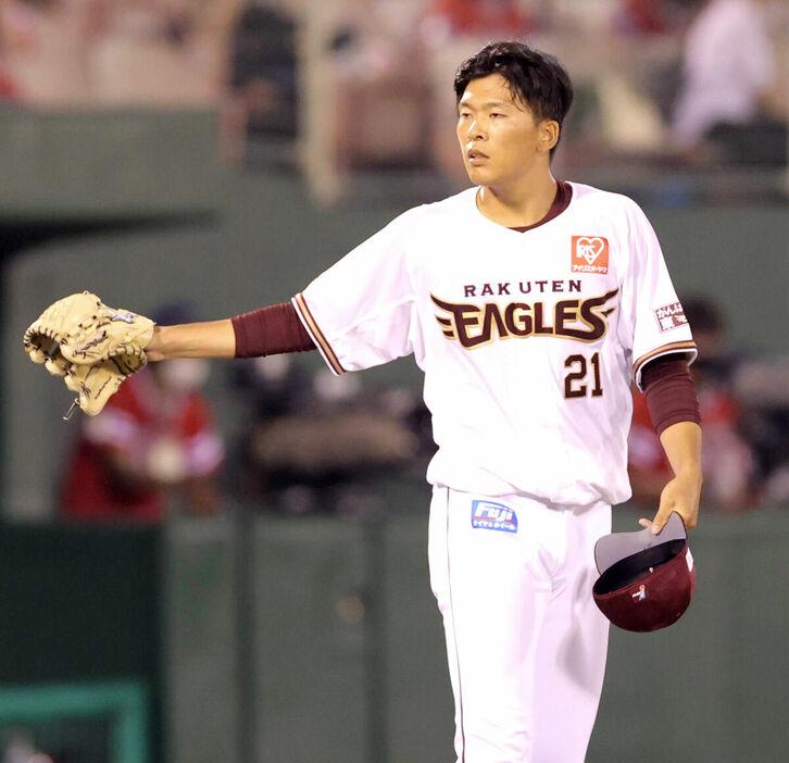 早川隆久 7勝4敗 防御率3.64 94回 WHIP1.24 QS率37.5%
