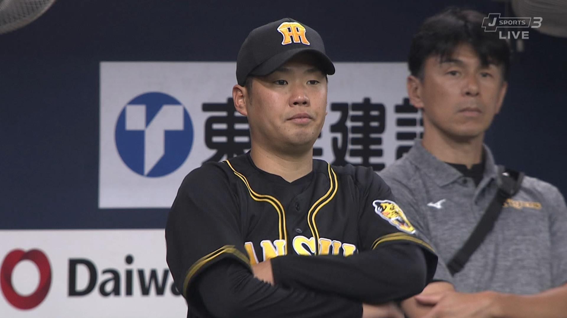 阪神・西、古巣オリックス相手に勝利ならず