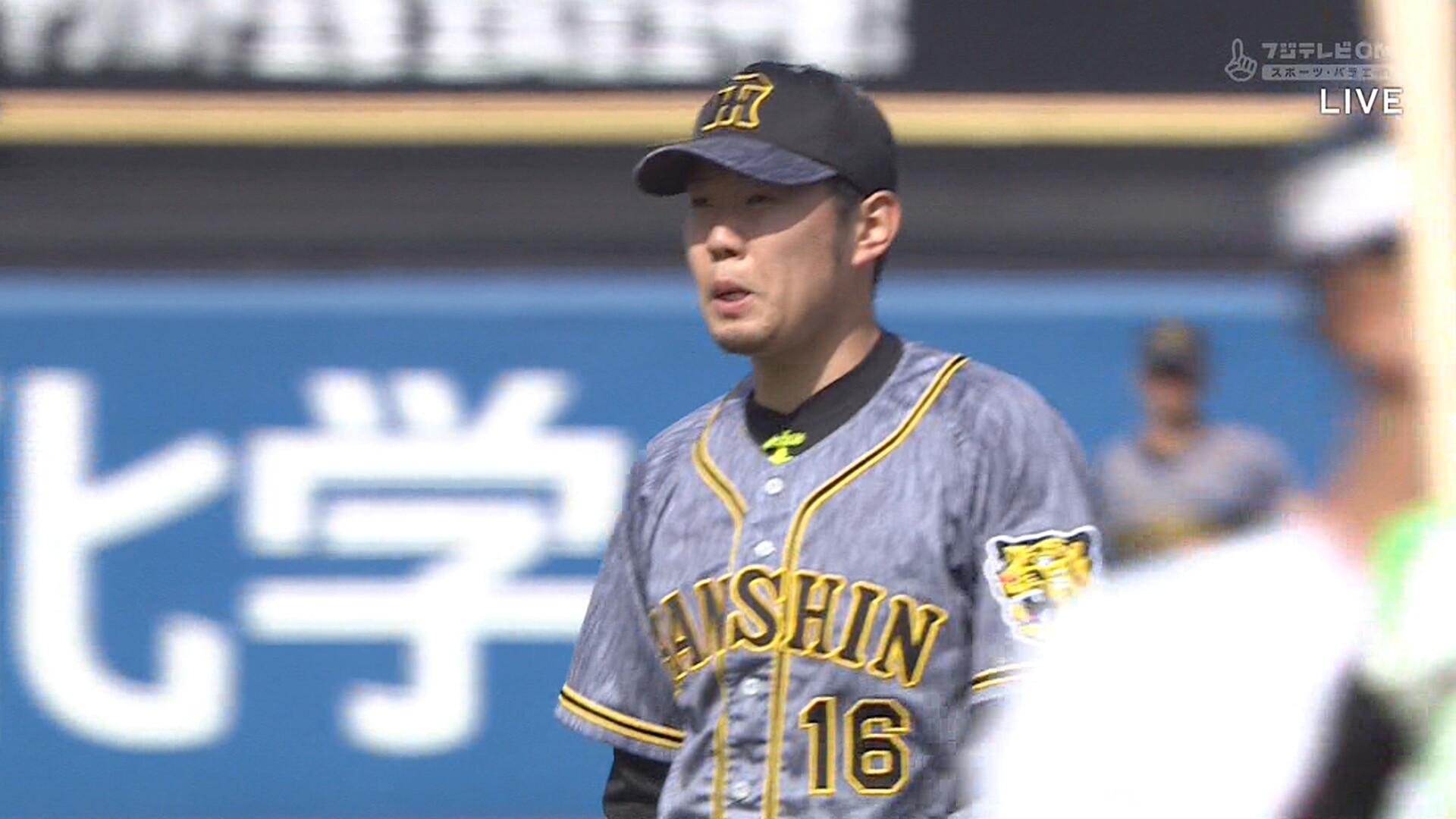 阪神・西、1イニング3盗塁された村上に復讐の鬼牽制wwwww