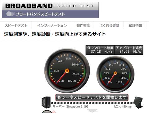 1-B図-ブロードバンドスピードテスト