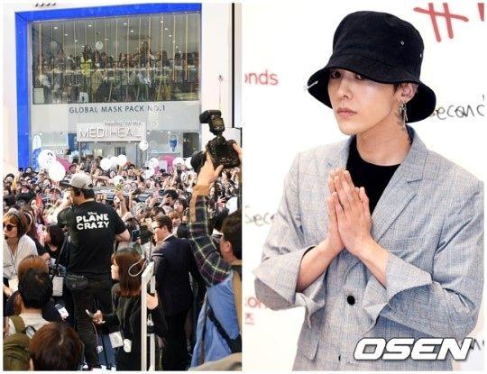 【BIGBANG NEWS】G-DRAGON、明洞の街に出現!ファン殺到で麻痺状態に