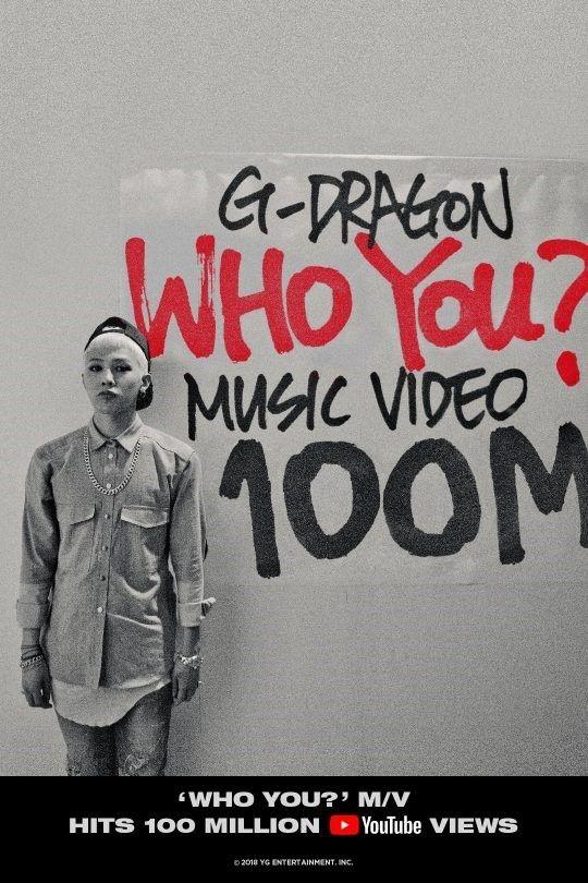【BIGBANG NEWS】BIGBANGのG-DRAGON「WHO YOU?」MVが再生回数1億回を突破!入隊中にも強大な影響力