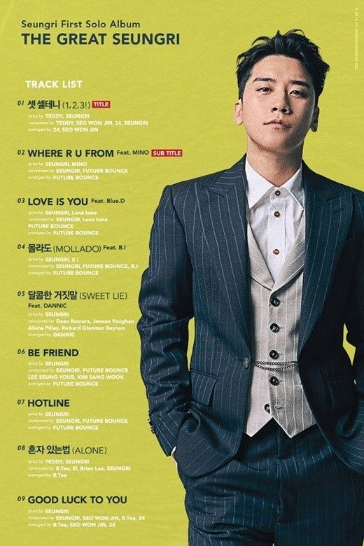 【BIGBANG NEWS】BIGBANGのV.I、1stフルアルバムのトラックリスト公開…WINNER ソン・ミノに続きiKONのB.Iとのコラボ…