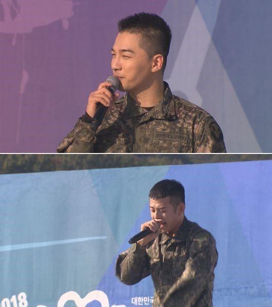 【BIGBANG NEWS】入隊中の芸能人にファン殺到…BIGBANGメンバーからチュウォンまで「地上軍フェスティバル」に登場
