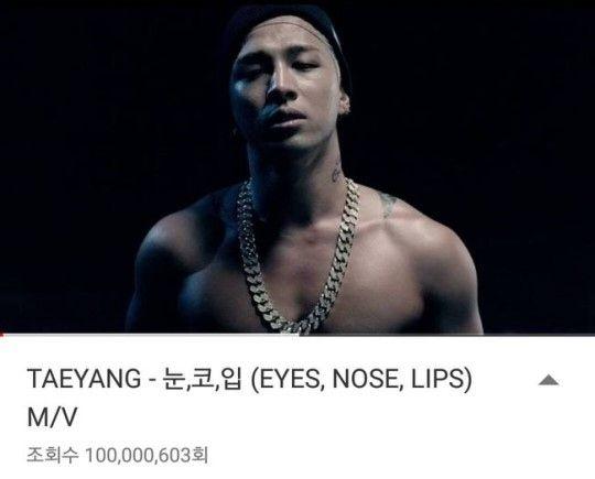 """【BIGBANG NEWS】BIGBANG、これで10作目!SOLの「EYES, NOSE, LIPS」MV再生回数が1億回を突破""""記録を更新"""""""