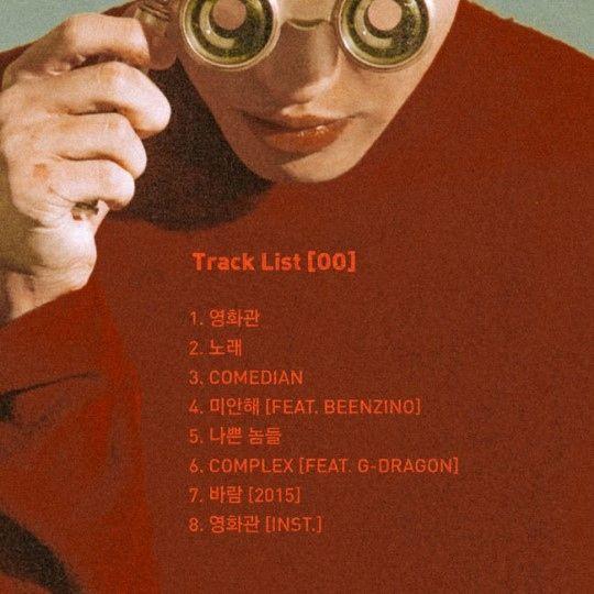 【BIGBANG NEWS】Zion.T、ニューアルバム「O O」トラックリストを公開…G-DRAGONとのコラボ曲は「COMPLEX」