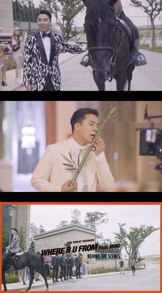 "【BIGBANG NEWS】BIGBANGのV.I、新曲のMV撮影現場の様子を公開…""WINNER ソン・ミノのおかげで完璧な曲になった"""
