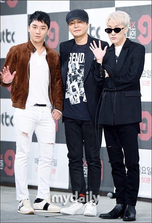 【BIGBANG NEWS】【PHOTO】BIGBANGのV.I&YGヤン・ヒョンソク代表&Zion.Tら、スター発掘番組「MIX NINE」制作発…
