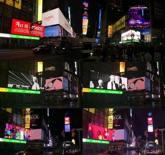 【BIGBANG NEWS】BIGBANGのG-DRAGON&WINNER&BLACK PINK、米タイムズスクエア電光掲示板に登場!