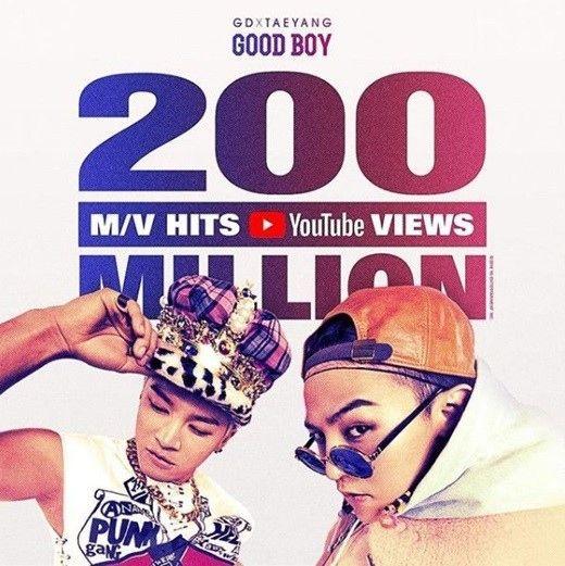 【BIGBANG NEWS】YGヤン・ヒョンソク代表、GD×SOL「GOOD BOY」MV再生回数2億突破をSNSでお祝い