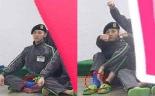 【BIGBANG NEWS】G-DRAGON、軍隊での近況写真が話題…右足首のサポーターに心配の声も