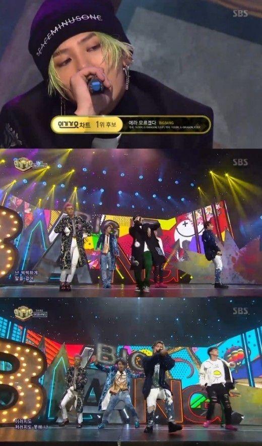 【BIGBANG NEWS】BIGBANG「人気歌謡」3週連続で1位を獲得!AOA&楽童ミュージシャンのカムバックステージも披露