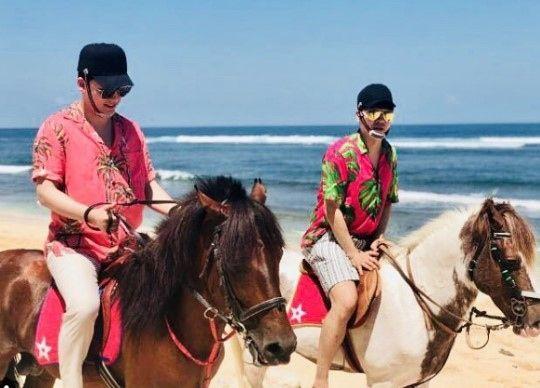 【BIGBANG NEWS】BIGBANG V.I、パク・スホンと海岸沿いで乗馬?バリ島での休暇に注目