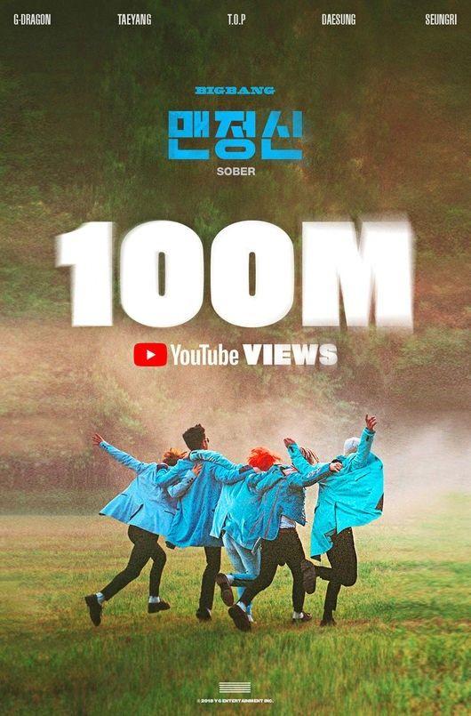 【BIGBANG NEWS】BIGBANG「SOBER」MV再生回数が1億回を突破…メンバーのソロ曲含め12本目