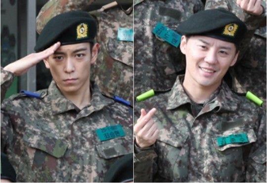 """【BIGBANG NEWS】""""入隊""""BIGBANGのT.O.P&JYJ ジュンス、軍服姿が公開され話題"""