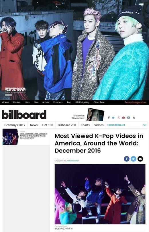 【BIGBANG NEWS】「世界で最も多く見られたK-POPミュージックビデオ」を米ビルボードが発表!1位は…