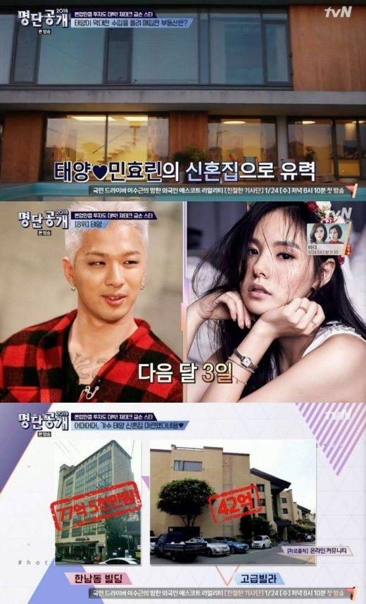 "【BIGBANG NEWS】""結婚""BIGBANGのSOL&ミン・ヒョリンの新居を予想…イ・ジョンソクの隣人になる可能性も?"